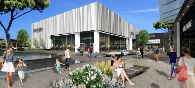 Visuel du futur centre commercial